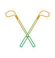 crossed golf clubs stick equipment image vector image