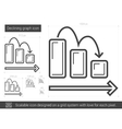 Declining graph line icon vector image vector image