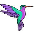 doodle humming bird vector image vector image