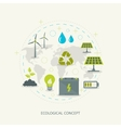 Ecologic renewable energy concept vector image vector image