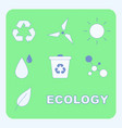 ecology symbols flat set vector image