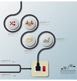 Electric Wire Line Business Infographic vector image vector image