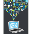 Email marketing campaign icon splash vector image vector image