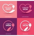 Four Mothers Day greeting cards vector image