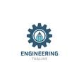 gear logo design symbol vector image