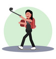 girl making selfie vector image vector image