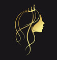 girl with a golden crown vector image vector image