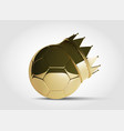 gold football or soccer ball with golden crown vector image vector image