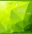 green polygon backround vector image vector image