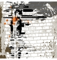 grunge wall background vector image vector image