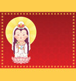 guanyin goddess of mercy vector image vector image