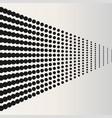 halftone dots black horizontal located dots vector image vector image
