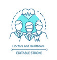 healthcare workers concept icon doctors vector image