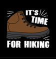 hiking quote and saying good for print vector image