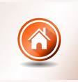 home icon in flat design vector image