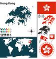 Hong Kong map world vector image vector image