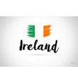 ireland country flag concept with grunge design vector image vector image