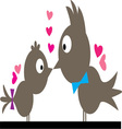 Kissing Birds vector image vector image