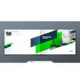 landscape brochure design green corporate vector image vector image
