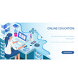 learning online at home vector image