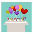 lollipop and balloons in supermarket shop or