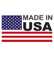 made in usa flag badge vector image