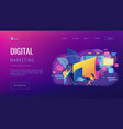 marketing concept landing page vector image