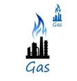 Natural gas or oil refinery factory vector image vector image