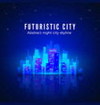 neon city landscape with glow and bright colors vector image vector image