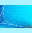 network in blue space abstract technology banner vector image