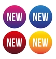 New web button set vector image vector image
