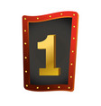 number one show lights sign vector image