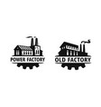 old factory black logo industrial vector image vector image