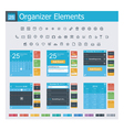Organizer elements vector image