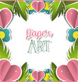 paper art landscape vector image vector image