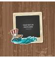 Photo frame birthday vector image vector image