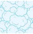 Pop art smoke seamless pattern blue vector image