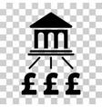 pound bank scheme icon vector image vector image