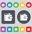 Purse icon sign A set of 12 colored buttons Flat vector image vector image
