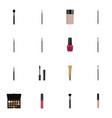 realistic eyelashes ink contour style kit brush vector image vector image