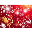 Red Fire Rooster Bright Background vector image