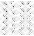 Rhombus a dash monochrome seamless pattern vector image vector image