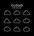 set line icons of cloud vector image