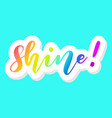 shine rainbow colors teal background vector image