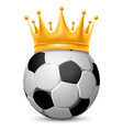 Soccer ball in crown vector image vector image