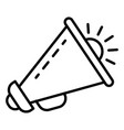 speaker megaphone icon outline style vector image vector image