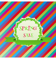 spring sale colorful background vector image vector image