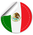 Sticker design for flag of mexico vector image