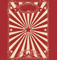 vintage red circus vector image