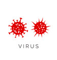 virus flu infection red symbol corona virus vector image